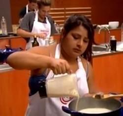 Elba Rodríguez preparó una deliciosa sopa de maní en el programa MasterChef de Argentina