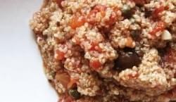 Quinoa a la puttanesca